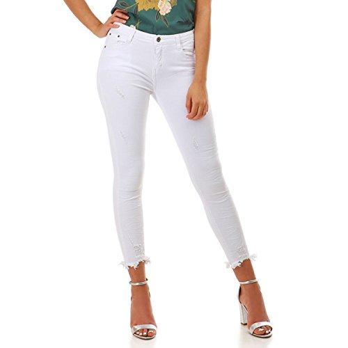 La Modeuse - Jeans Coupe 7/8me Blanc