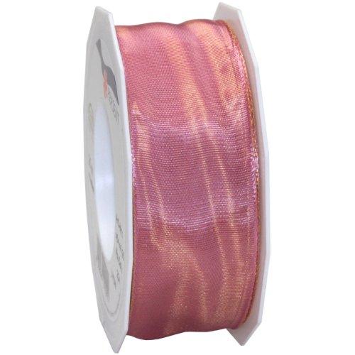 Morex Ribbon French Wired Lyon Fabric Ribbon, 1-1/2-Inch by 27-Yard, Mauve
