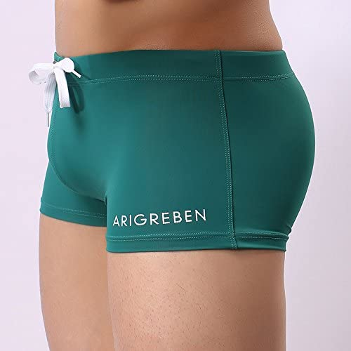 Bokeley Mens Swim Trunks, Swim Short Men Boxer Briefs Swimming Pants Swimwear