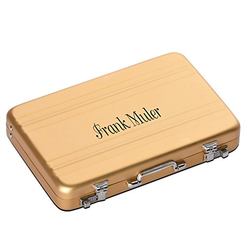Custom Engraved Aluminium Alloy Luggage Credit Card Business Card Holder Case - Personalized Gift (gold)
