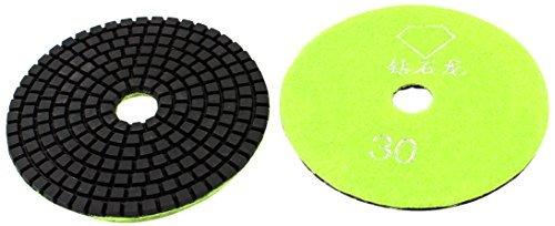 DealMux 10cm Dia 30 Grit Marble Diamond Polishing Pad, Yellow Green, (Verde Green Marble)