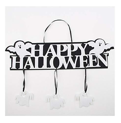 1PC Happy Halloween Pumpkin Hanging Strips Window Decoration Haunted House Prop 02 OneSize