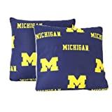 College Covers Michigan Wolverines Decorative Pillow, 16'' x 16'', Includes 2 Decorative Pillows