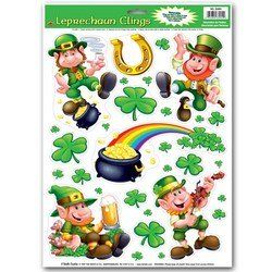 Holiday Car Costumes Review (Leprechaun/Shamrock Clings Party Accessory (1 count) (10/Sh))