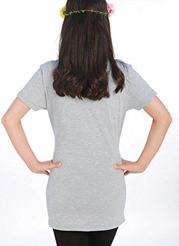 Yanyan - Camiseta - para mujer gris