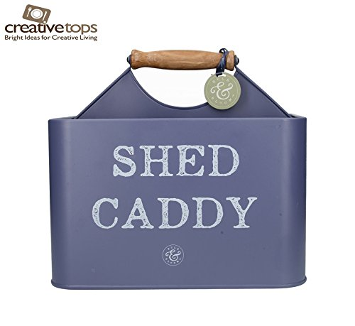 Creative Tops Bulb & Bloom Shed Garden Caddy Tool Box in Vintage Blue (Creative Caddy)