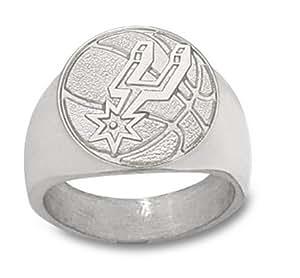 NBA San Antonio Spurs Basketball Ring - Sterling Silver