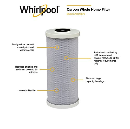 Whirlpool WHA4BF5 Large Capacity Carbon Block Whole Home Replacement Water Filter by Whirlpool (Image #1)