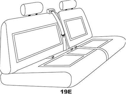 Elegant E D4913 Custom Made Rear Bench Backrest Seat Cover Gray Premier Tweed Fabric