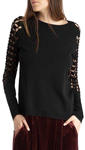 BDBA Sweater, Sudadera para Mujer Black
