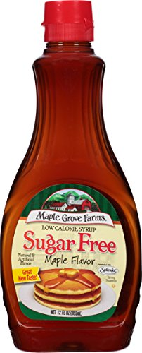 Maple Grove Farms, Syrup, Sugar Free, Maple Flavor, 12 Ounce (Pack of 12) Vermont Sugar Free Maple Syrup