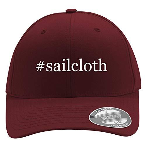 #Sailcloth - Men's Hashtag Flexfit Baseball Cap Hat, Maroon, Large/X-Large ()