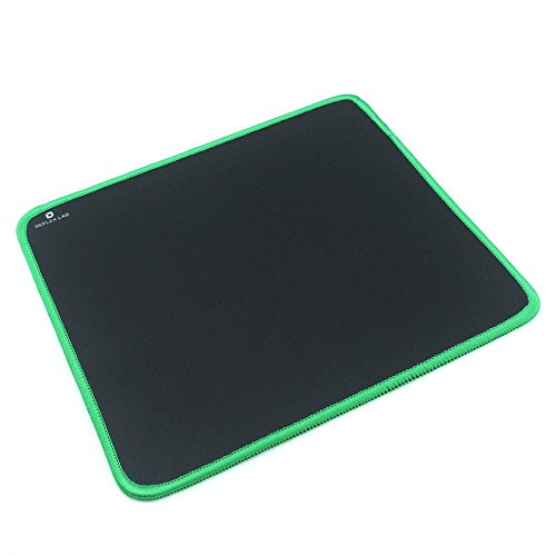 41EZpukdjGL - Reflex-Lab-Mouse-Pad-Mat-Green-Stitched-Edges-Waterproof-Ultra-Thick-3mm-Silky-Smooth-9x8-Mousepad
