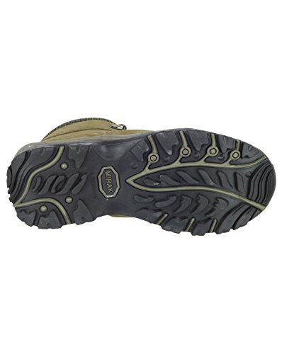 Mirak Lace-Up Textile Lined Womens Boots - Khaki - Size 3 4 5 6 7 8 Caqui