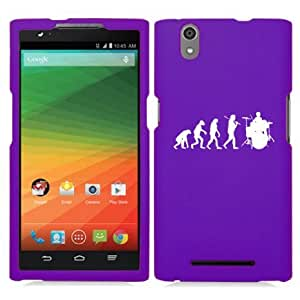 ZTE Zmax Z970 Snap On 2 Piece Rubber Hard Case Cover Evolution Drummer (Purple)