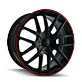 #10: Touren TR60 3260 Wheel with Black Finish with Red Ring (16x7
