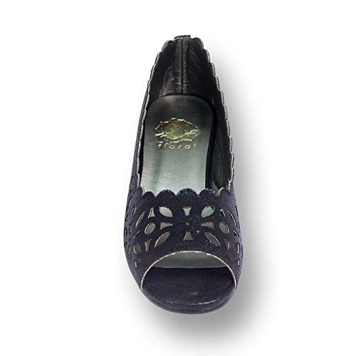 Fic Floral Irene Large Largeur Chaussures Pour Femmes, Chaussure Habillée Pour Les Mariages, La Danse Et Le Dîner Noir