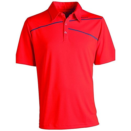 Oakley Golf Men's Active Polo Shirt, Dark Orange, X-Large