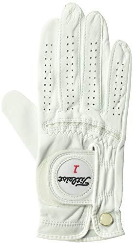 Titleist Perma Soft Golf Glove Womens Reg RH Pearl, White(Medium, Worn on Right Hand)