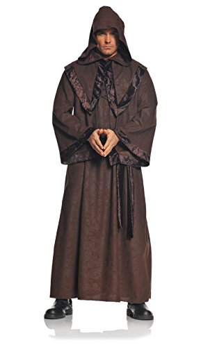 Underwraps Men's Deluxe Monk Robe, Brown, One Size