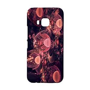Htc One M9 Case,Unique Stylish Sparkled Flower Pattern 3D Premium Printed Slim Phone Back Case Fit Htc One M9