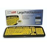 2CT6074 - DataCal Ezsee Low Vision Keyboard Large Print Yellow Keys (Certified Refurbished)