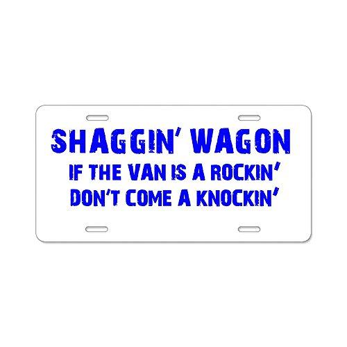 CafePress - Shaggin Wagon Van Rockin Current Aluminum License - Aluminum License Plate, Front License Plate, Vanity Tag]()
