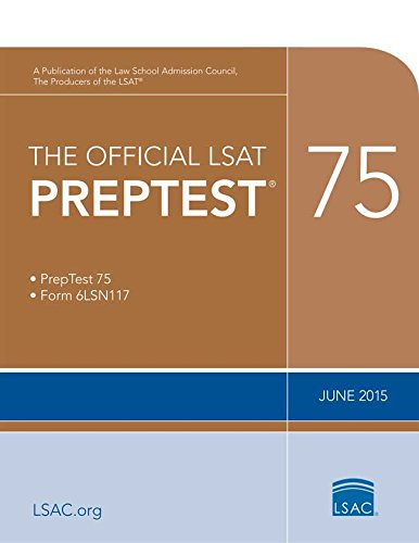 The Official LSAT PrepTest 75: (June 2015 LSAT) cover