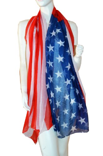 SCARF_TRADINGINC® American flag Pareo Sarong Swimsuite Cover-up