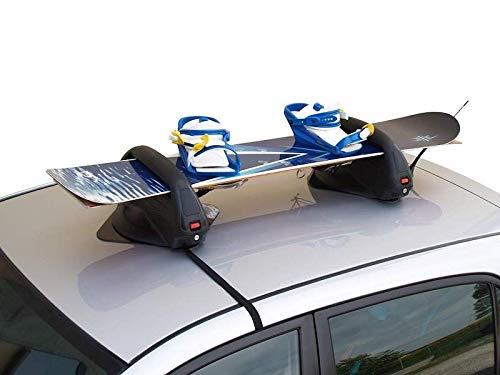 X-One//X.One PORTASCI Snowboard Auto Dacia Dokker Magnetico TIGERSHARK OMOLOGATO M-Way con Sistema ANTIFURTO x 3 Paia Sci O 2 Snowboard per Tetto