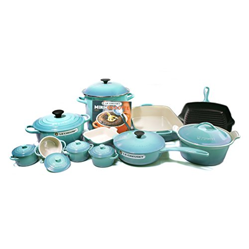 Le Creuset Signature Caribbean Mixed 20 Piece Cookware Set