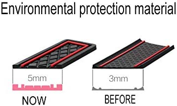 SAINA Car Groove Mats For F ord FIESTA ST 2008-2016 Door Slot Pad Cup Holder Mat Rubber Interior Accessories Non-slip Anti-dust Mats Red