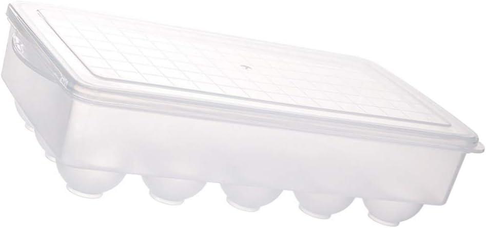 Hemoton Transparente Eierbox K/ühlschrank Eierhalter 15 Gitter Eier Stapelschale Teuflische Eierablage Tr/äger mit Deckel f/ür Die K/üche