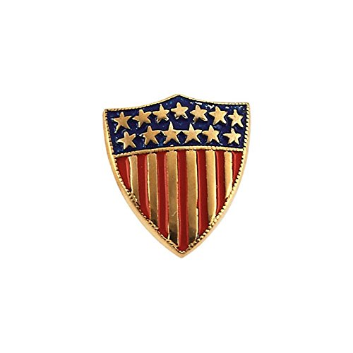 Gold America Shield (14K Gold American Shield of Honor)