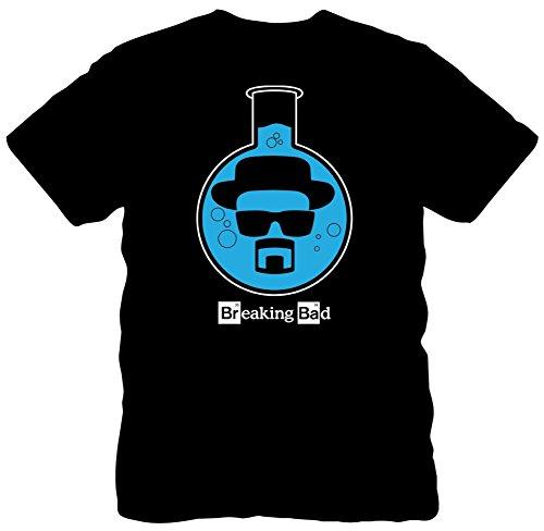 Breaking Bad Men's Beaker T-Shirt, Black, Large