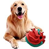Funoasis Durable Dog Chew Toys for Aggressive Chewers, Interactive Fetch Training Big Medium Dog Dental Toys, Indestructible Dog Toss Ball (Red)