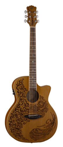 - Luna HEN P2 CDR Acoustic-Electric Guitar