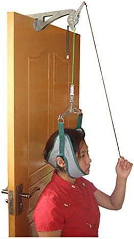 funwill Cervical Traction Gerät, über der Tür Zugmechanik, Halskrause Einheit für Hals Schulter Schmerzen Bandage Relief Kopf Home