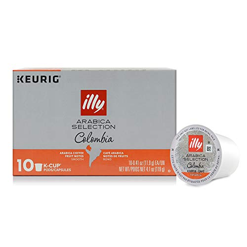 illy Keurig Single-Serve Arabica Selection K-Cup Pods - Colombia Flavor - 10 Count Box