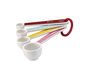 Cake Boss Countertop Accessories 4-Piece Melamine Measuring Spoon Set