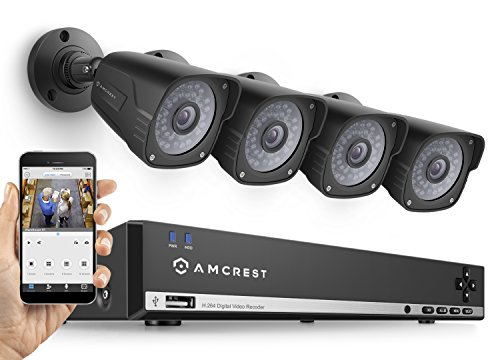 Amcrest 960H 8CH 1TB Security System – Eight 800+ TVL IP66 Bullet and Dome cameras (Black)