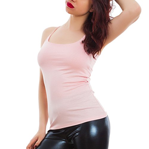 Sottili Spalline Donna Sexy Rosa Vb Jersey Canottiera Basic Canotta Top Aderente Toocool 205 xatwIqz5q