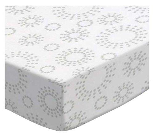 SheetWorld Fitted Cradle Sheet - Grey Dot Circles - Made In USA