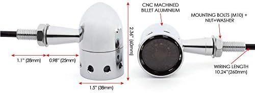 Intermitentes para Moto para Retro a Medida Chanco Chopper Flotador Project Perforados Cromo