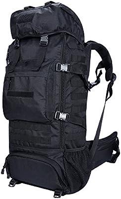Gonex – Mochila de senderismo bolsa de montaña 70L con funda de lluvia impermeable hermética para escalada alpinismo Camping trekking viaje