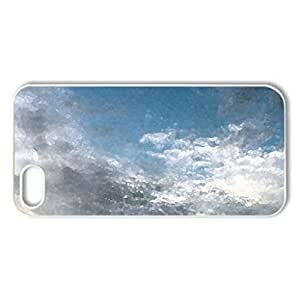 Cloud Shot at Noon - Case Cover for iPhone 5 and 5S (Sky Series, Watercolor style, White)