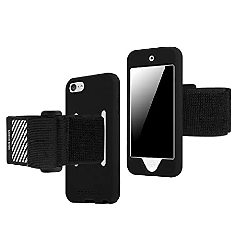 Fintie iPod Touch 6 Armband - [CaseBot Series] iTouch 6 / iTouch 5 Sports Running & Exercise Gym Armband with Premium Flexible Detachable Silicone Case Cover Combo for iPod Touch 6th GEN, (Ipod 6th Generation Strap)