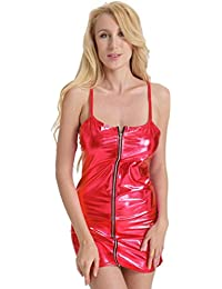 TATGB Lingerie Women Dress Tight-Fitting Leather Clubwear Stripper Bodycon QN-26