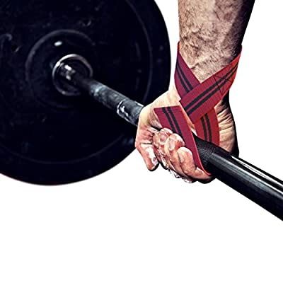NUMBER 1 RATED - Lifting Straps - For Bodybuilding & All Types of Strength Workout Lifts - Weight - Power - Olympic - DeadLifts - Kettlebell - Bonus Lifting Technique Ebook