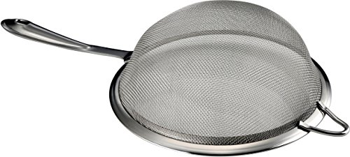 pro chef kitchen tools stainless steel fine mesh strainer set 5 essential cooking sieve baskets for sifting filtering straining or draining cold and high temperature liquids and foods safely